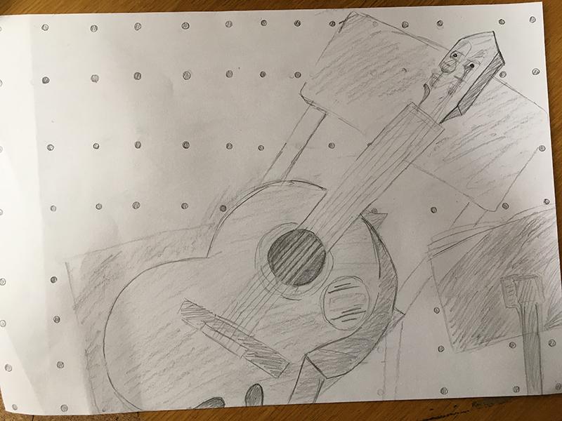 ギターを描く